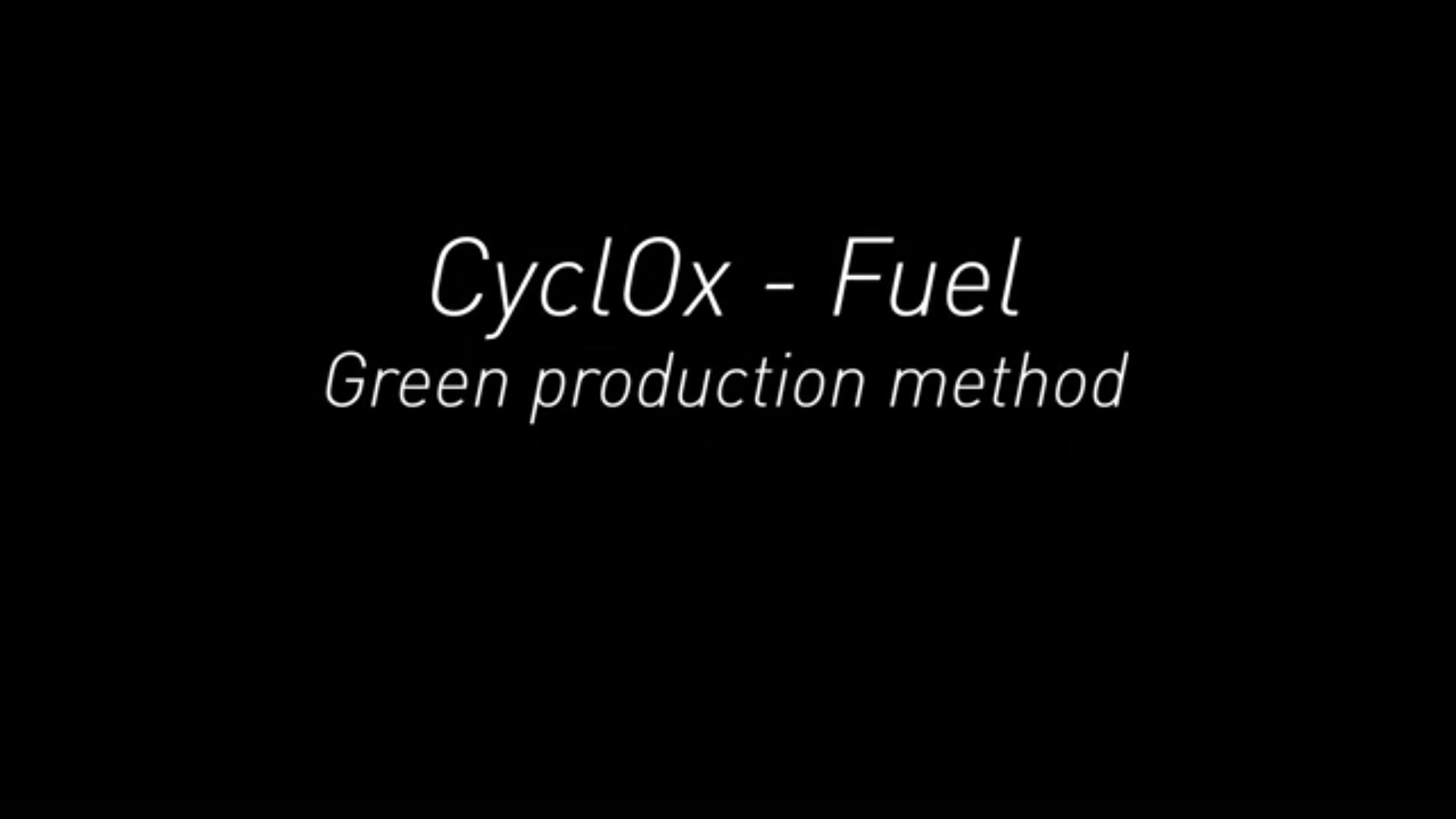 CycLox_Green_Production_Method_start_screen